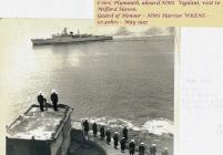 Image of HMS Vigilant and Honour Guard Dale...