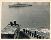 Image of the arrival of naval Admiral at...