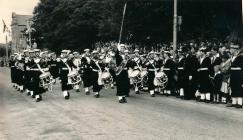 Image of naval band on Royal Visit Dale...