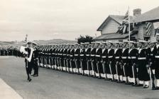 Image of Honour Guard for the Queens visit 1955