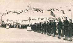 Image of naval honour guard Neyland...