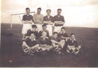 Image of football team HMS Harrier Dale...