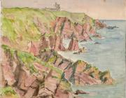 Image of painting of cliffs at Kete and Camp...
