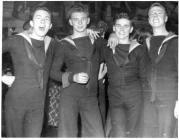 Image of Naval Personnel at a dance on Harrier...