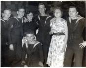 Image of Naval Personnel at a dance at Harrier...