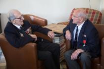 D-Day Veterans Ted Owens and Tony Bird sharing...