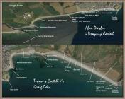 Cricieth – Enwau ar hyd y Draethlin