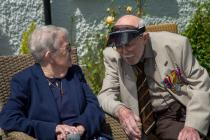 Kitty Francis and Dennis Tidswell. WW2 Veterans...