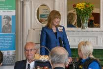 Lord-Lieutenant of Dyfed speaking to Veterans....