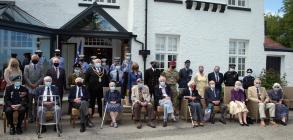 WW2 Veterans. Aberporth 6th June 2021. Age...