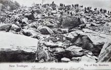 Postcard of Landslide at New Tredegar, 1905
