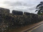 Eastern & Western Walls of Rose Garden at...