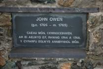 John Owen, Caeau Môn Memorial, Rhosmeirch
