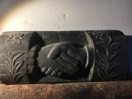 Hands carved from slate