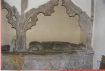 Knight effigy Llangwm Pembrokeshire