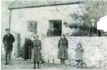 Copy of the photograph of a family standing...