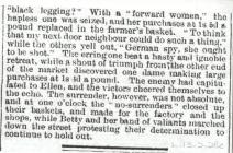 WW1 Local War News items Llangwm Pembrokeshire