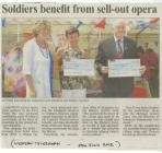 News cuttings re WW1 opera Llangwm...