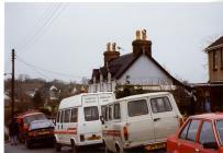Photograph of a road in Llangwm Pembrokeshire
