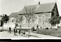 Black and white photograph of Llangwm Methodist...