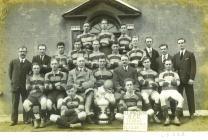 Formal pose of the Llangwm RFC Team...