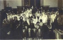 Copy of a photograph of a group in costume in...