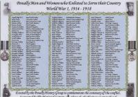 Penally Roll of Honour Pembrokeshire
