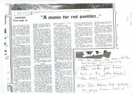 Newspaper cutting about Lydstep House Penally...