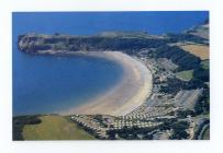 Aerial Photograph of Lydstep Haven and caravans...