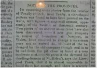 Information re a find in the Church Penally...