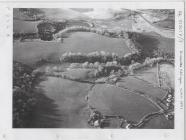Aerial view of old limestone quarry in Penally...