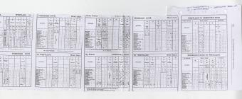 Collection of timetables Penally Pembrokeshire