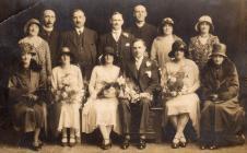 Wedding of Elizabeth Ella George and Joseph...