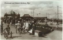 Rhyl Promenade and Queen's Gardens 1929