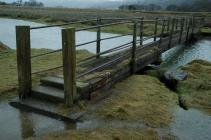 Afon y Glyn footbridge, Talsarnau