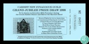 Raffle ticket for the Cardiff New Synagogue&...