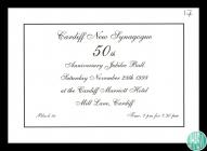 Ticket for Cardiff New Synagogue's 50th...