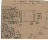 'Darlun 'My Pandemic Reading Room' 2020