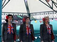 Singers VE anniversary celebrations Cardiff...