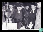 Black and white photograph of Chief Rabbi...