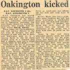 RAF Oakington Rugby Team Newspaper Clipping, 1960s
