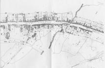 Tithe map 1843 of High Street, Cowbridge
