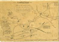 Llanblethian, nr Cowbridge,  sketch map 1994