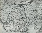 Map of Glamorgan by Christopher Saxton ca 1584