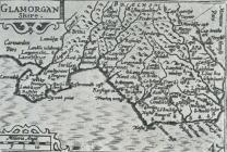 Map of Glamorgan by Peter Keer ca 1620