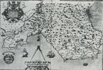Map of Glamorgan by Christopher Saxton 1578