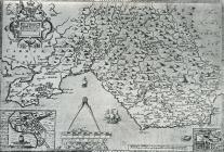 Map of Glamorgan by Saxton and Lee 1693