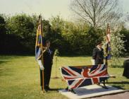 Cowbridge British Legion seat presentation 1996