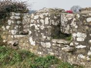 Coffin stiles, Llanfrynach church near...