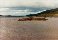 Llyn Celyn during the drought of 1984